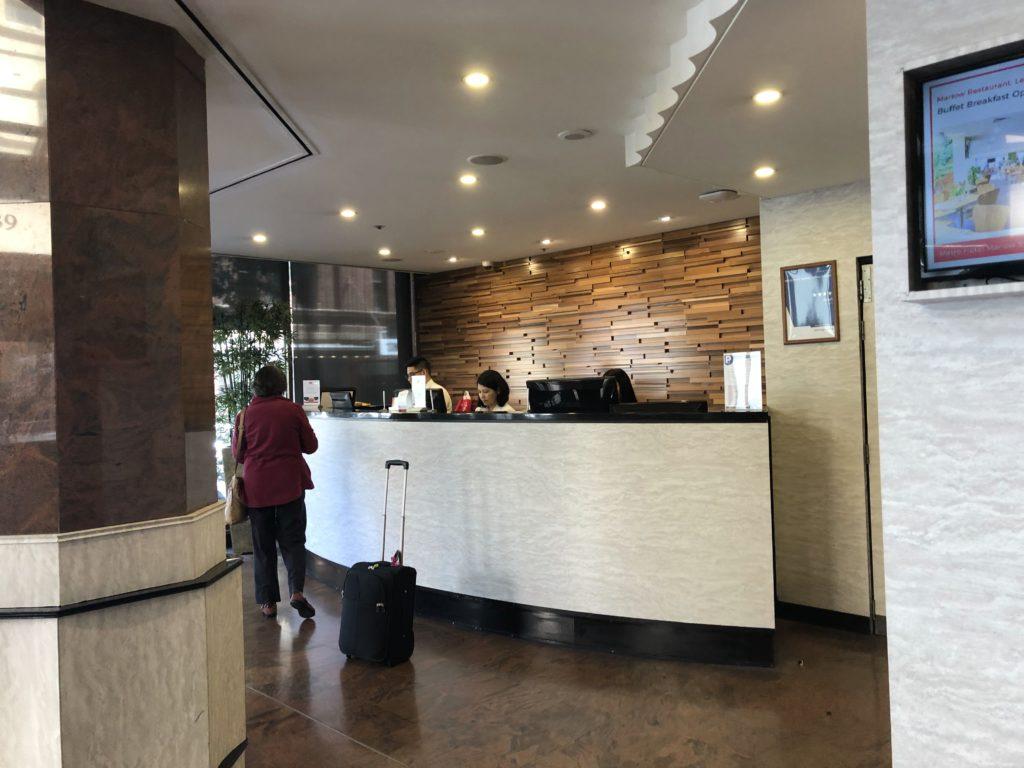 メトロ ホテル マーロー シドニー セントラルのフロント