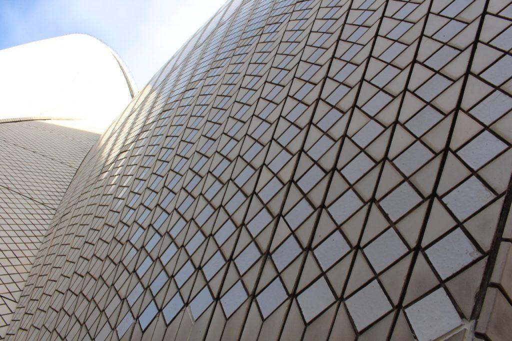 オペラハウスの屋根瓦