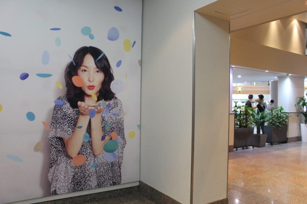 ノボテルのエレベーター前の写真